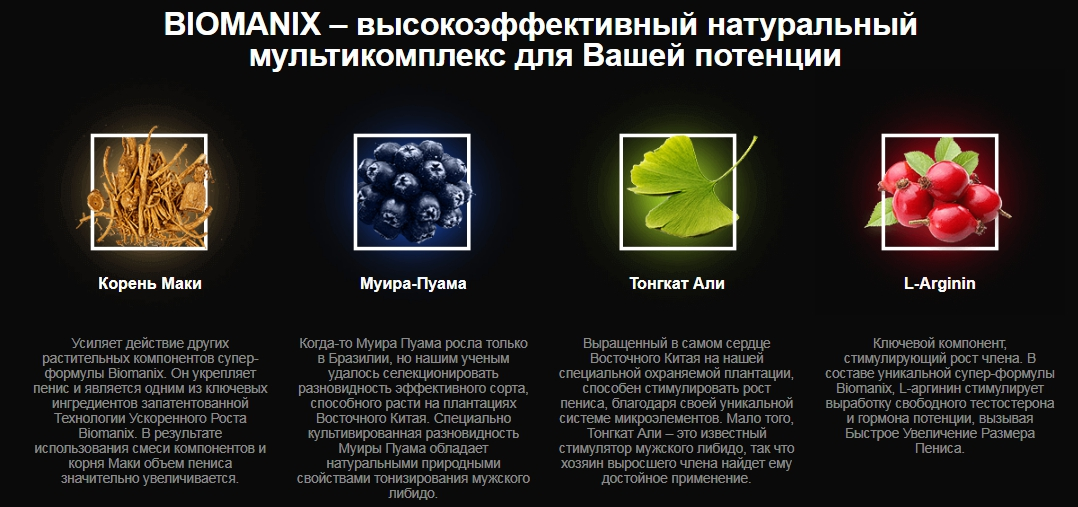 склад препарату Biomanix
